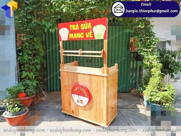 đóng  xe gỗ bán trà sữa giá rẻ
