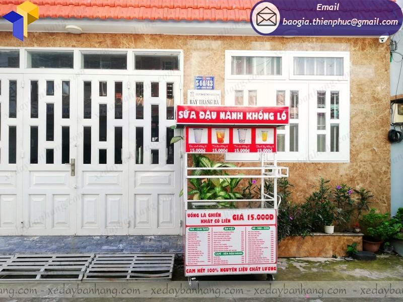 thiết kế tủ bán sữa đậu nành